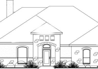 Front Elevation Spec Home for Sale La Vernia