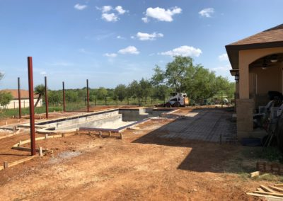 Residential Swimming Pool Concrete Pour