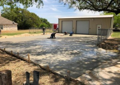 concrete driveway finished